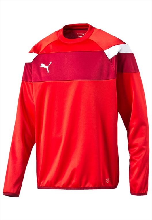Puma Trainingspullover Spirit II Training Sweat rot/weiß