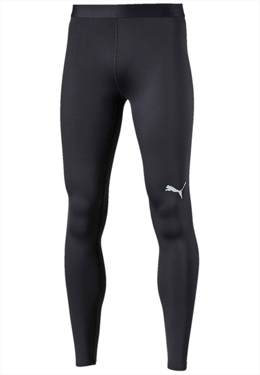 Puma Funktionshose TB Long Tight Warm schwarz/weiß