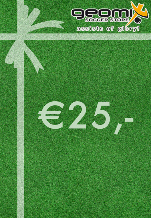 geomix Soccer Store Geschenk Gutschein 25 €