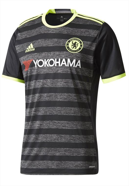 adidas Chelsea FC Auswärts Trikot 2016/17 schwarz/gelb fluo