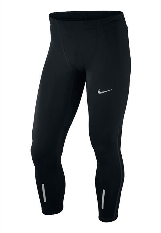 Nike Laufhose Power Tech Tight schwarz/silber