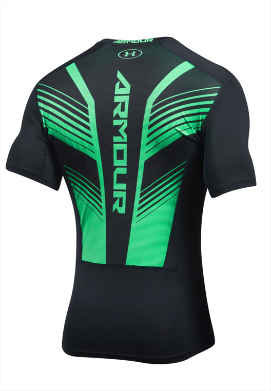 Under Armour Funktionsshirt HeatGear Supervent 2.0 SS schwarz/grün fluo