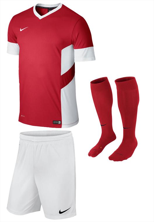 Nike Dressenset Academy 14 rot/weiß