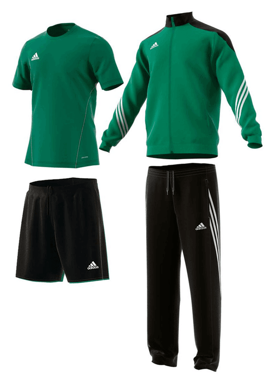 adidas Trainingsset Sereno 14 4-teilig grün/schwarz