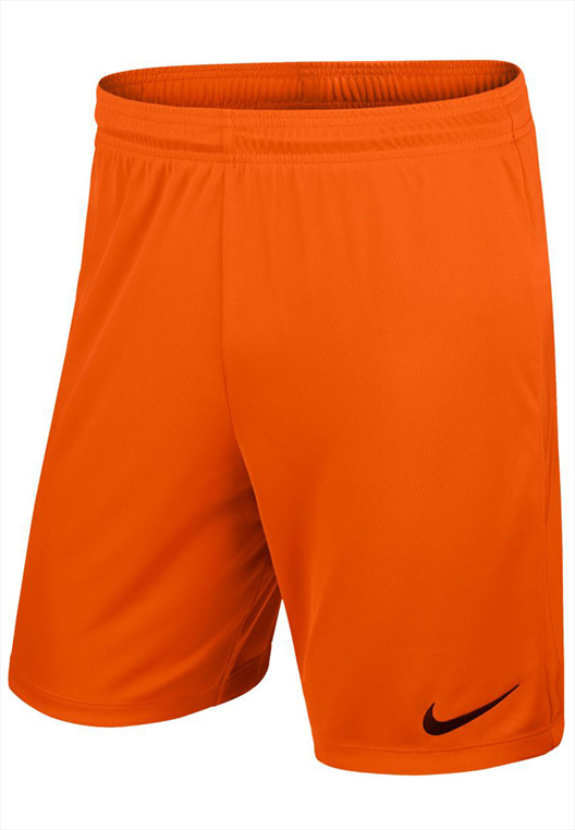 Nike Short Park II Knit ohne Innenslip orange/schwarz