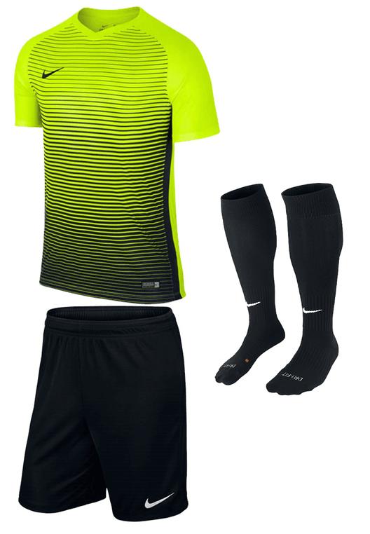 Nike Dressenset Precision gelb fluo/schwarz