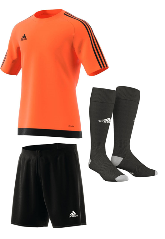 adidas Dressenset Estro 15 orange/schwarz