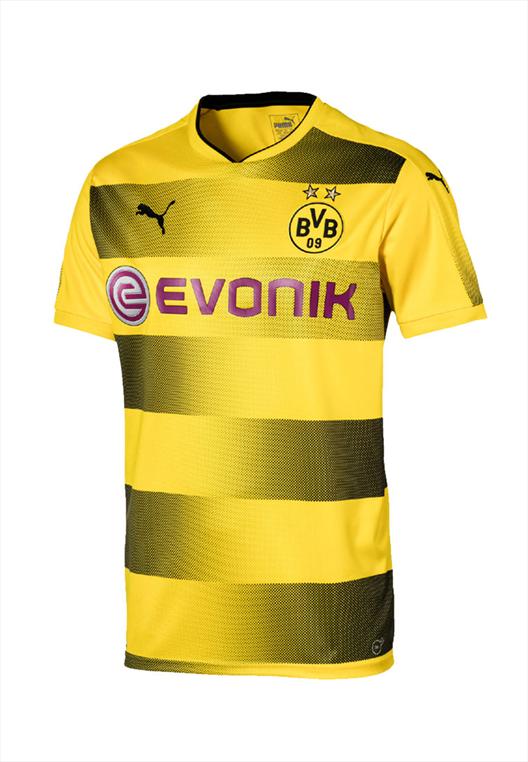Puma BVB Kinder Heim Trikot 2017/18 gelb/schwarz