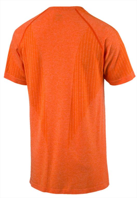 Puma Shirt Active evoKnit Summer Tee orange/schwarz