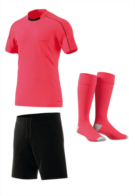 adidas Schiedsrichter Dressenset rot/schwarz