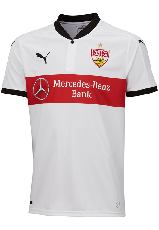 Puma VfB Stuttgart Herren Heim Trikot 2017/18 weiß/rot