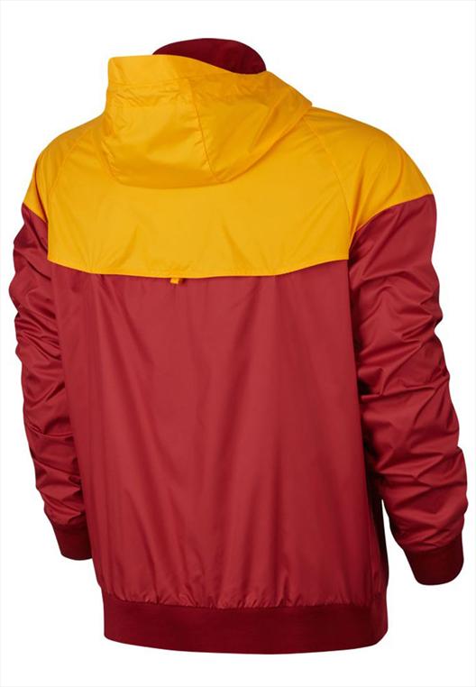 Nike AS Roma Fanjacke Authentic Windrunner rot/gelb