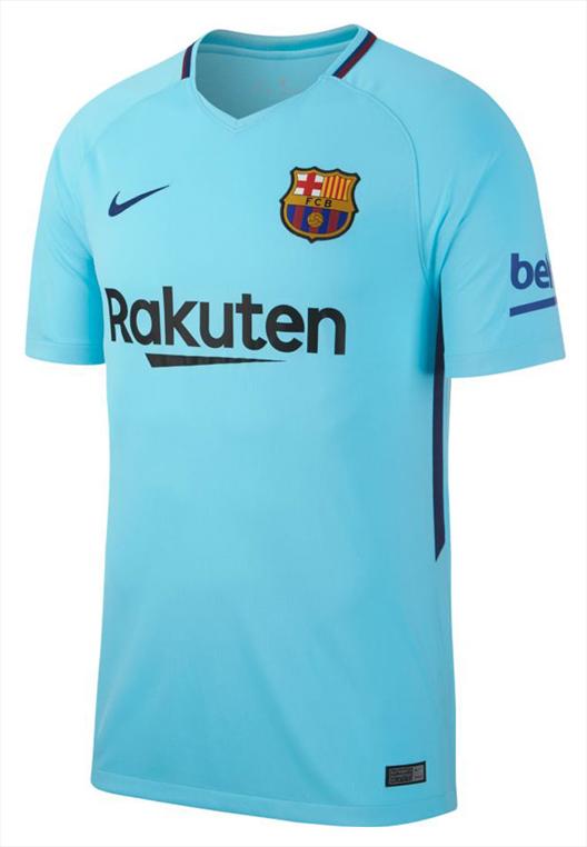 Nike FC Barcelona Herren Auswärts Trikot 2017/18 hellblau/dunkelblau