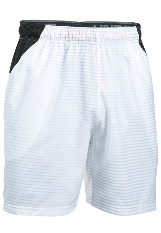 Under Armour Short Challenger Woven weiß/schwarz