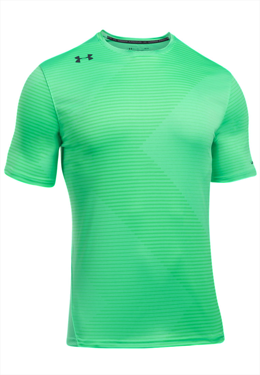 Under Armour Shirt Challenger Printed grün fluo/schwarz