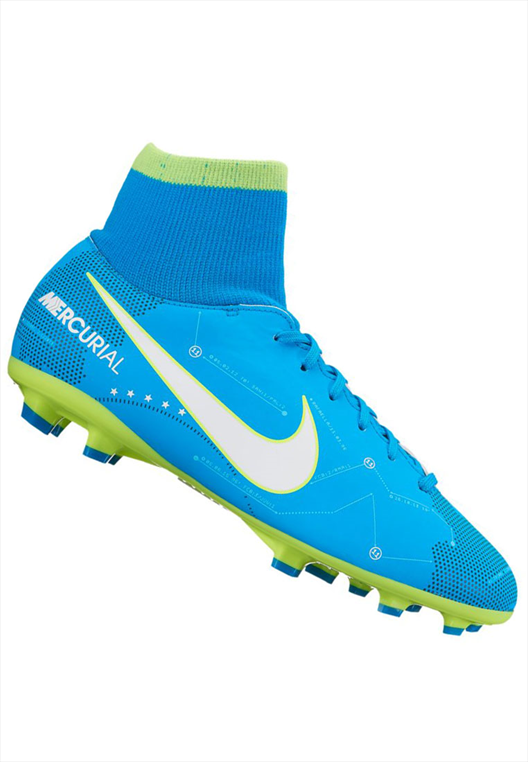 Nike Kinder Fußballschuh JR Mercurial Victory VI Neymar Jr. DynamicFit FG blau/weiß