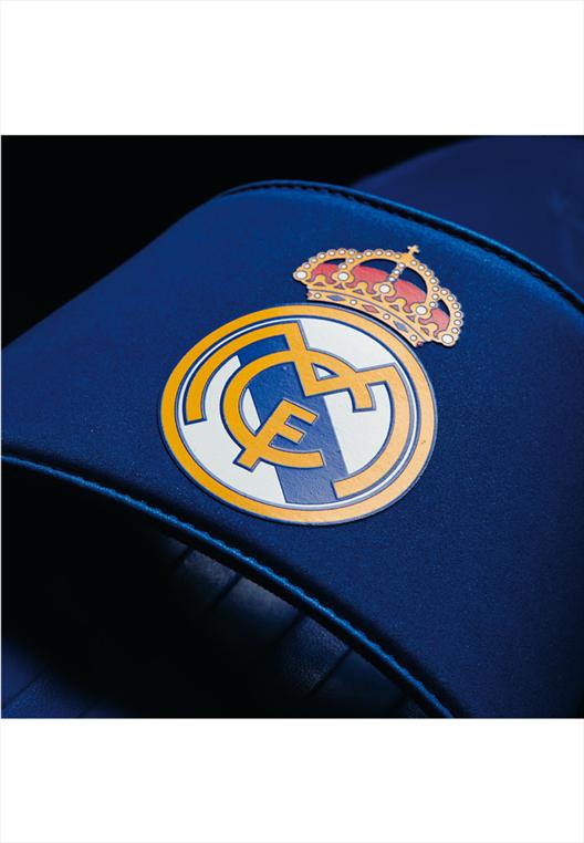 adidas Real Madrid Badesandalen Slide blau/weiß