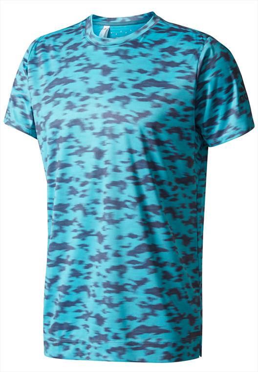 adidas Shirt FreeLift Tee türkis/dunkelblau