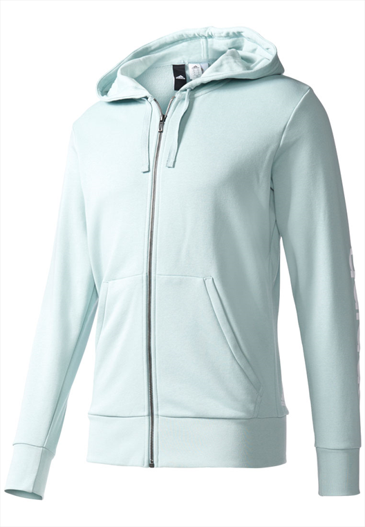 adidas Kapuzenjacke Essentials Linear Hoodie French Terry mint/weiß