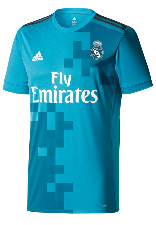 adidas Real Madrid Champions League Trikot 2017/18 türkis/weiß