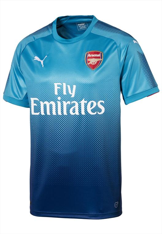 Puma FC Arsenal Herren Auswärts Trikot 2017/18 hellblau/dunkelblau