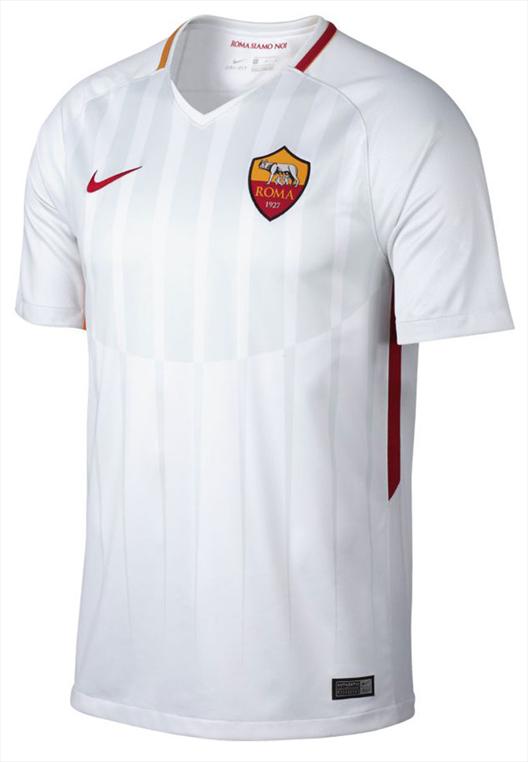 Nike AS Roma Auswärts Trikot 2017/18 weiß/rot