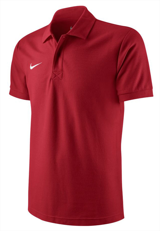 Nike Polo Shirt TS Core rot/weiß