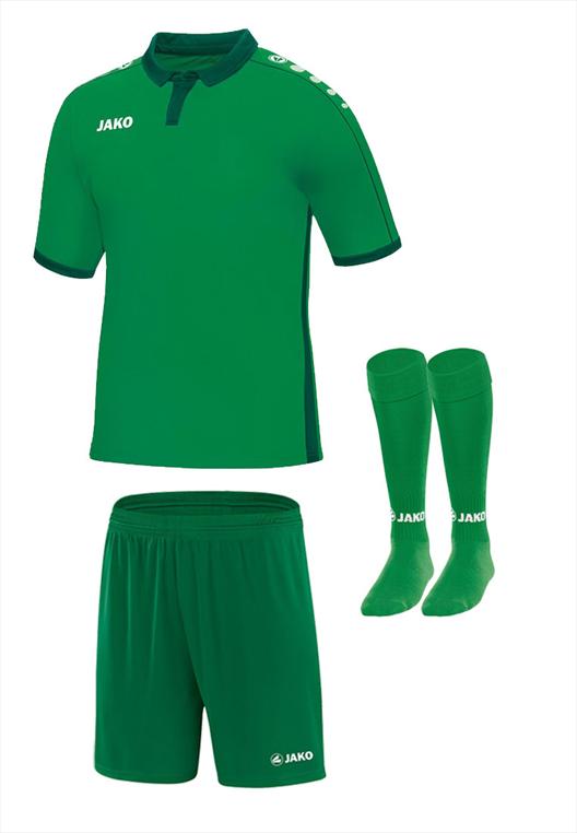 Jako Dressenset Derby KA grün/dunkelgrün
