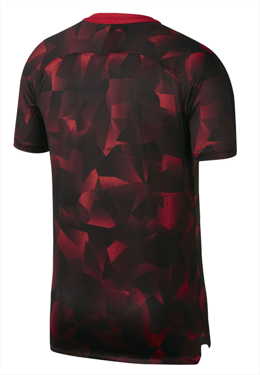 Nike Trainings Top Squad SS CL rot/schwarz
