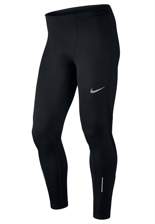 Nike Laufhose Power Run Tight schwarz/weiß