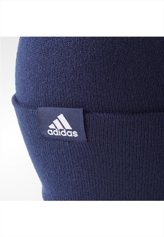 adidas Haube Linear Woolie dunkelblau/weiß
