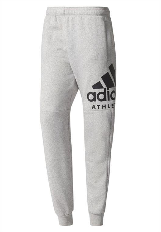 adidas Trainingshose Fleece Sport ID Branded Tapered grau/schwarz