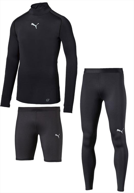 Puma Funktionsset warm 3-teilig schwarz/weiß