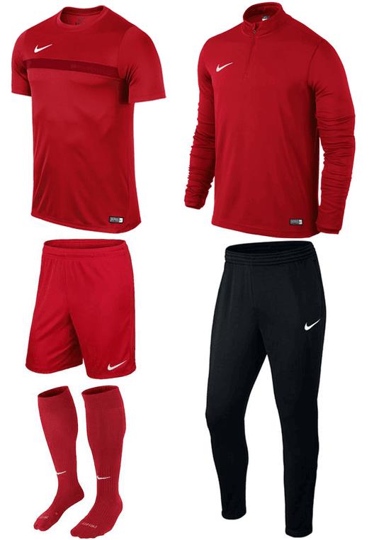 Nike Trainingsset Academy 5-teilig rot/weiß
