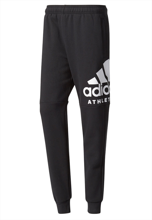 adidas Trainingshose Fleece Sport ID Branded Tapered schwarz/weiß