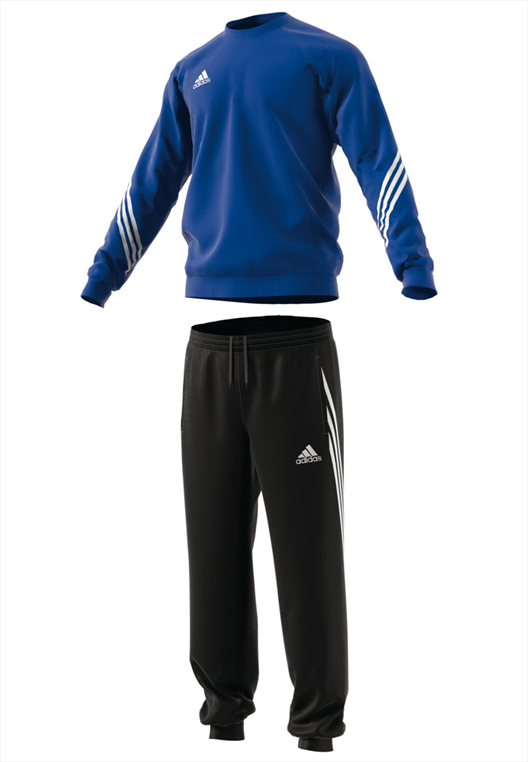 adidas Trainingsanzug Sweat Suit Sereno 14 blau/schwarz