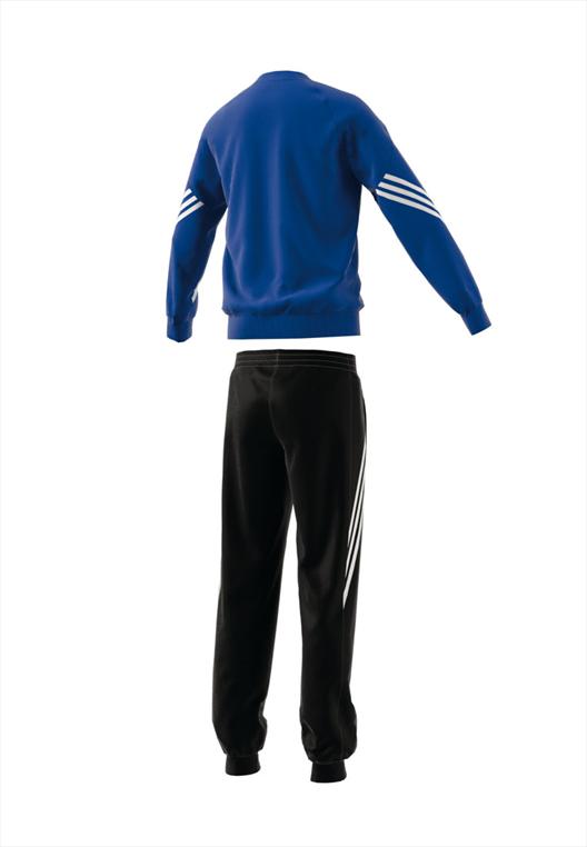 adidas Kinder Trainingsanzug Sweat Suit Sereno 14 blau/schwarz