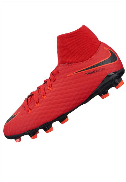 Nike Kinder Fußballschuh JR HyperVenom Phelon III DynamicFit FG hellblaudunkelblau