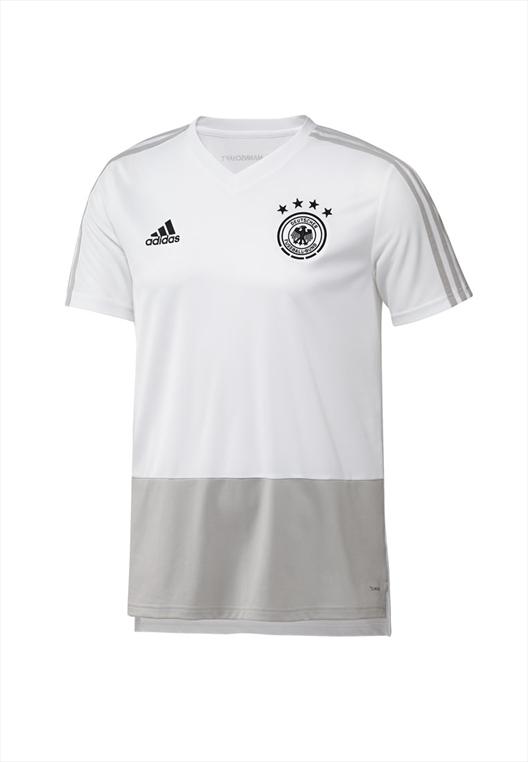 adidas Deutschland Kinder Trainingsshirt Jersey weiß/grau