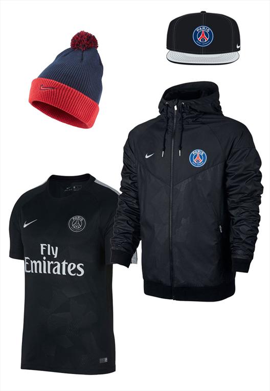 Nike Paris St. Germain Fanset 4-teilig schwarz/dunkelblau