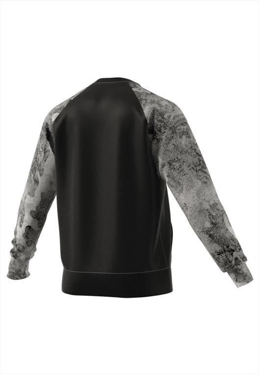adidas pullover essentials fleece classic 3 stripes camo. Black Bedroom Furniture Sets. Home Design Ideas