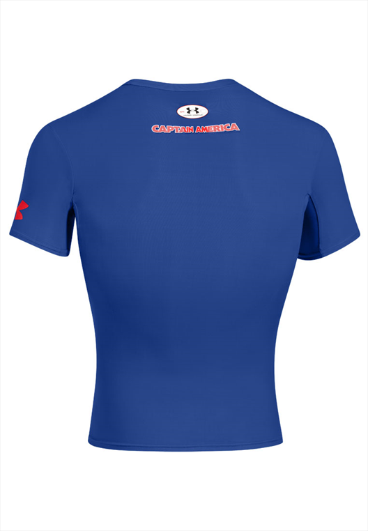 Under Armour Kompression Shirt Alter Ego Comp Captain America blau/rot