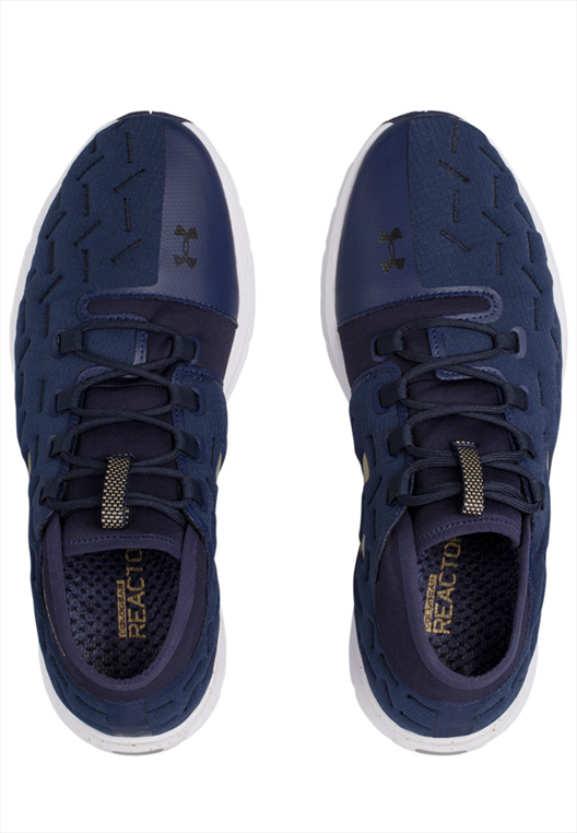 Under Armour Laufschuh Charged Reactor dunkelblau/gold