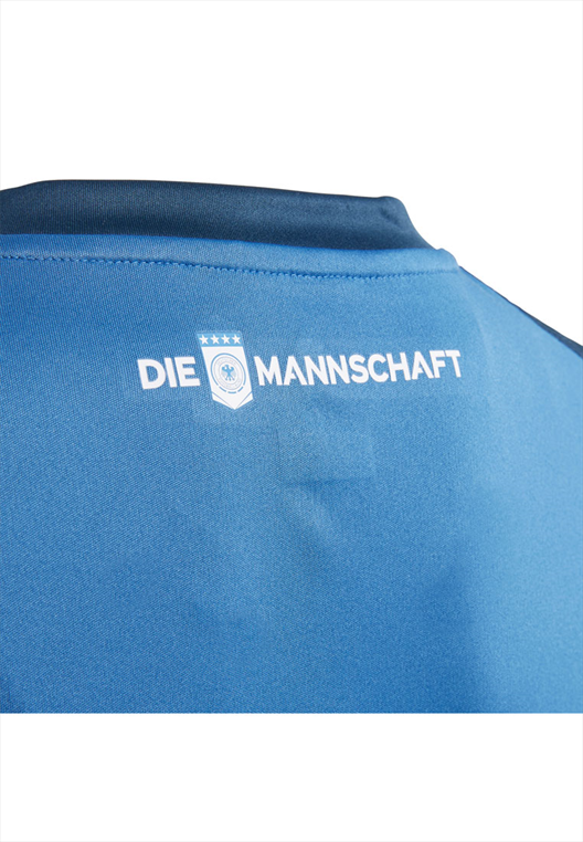 adidas Deutschland Kinder Heim Torwarttrikot WM 2018 dunkelblau/blau