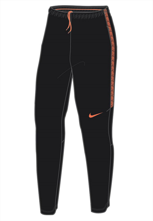 9b86542f974a9 Nike Trainingshose Dry Squad Football Pant schwarz orange - Fussball ...