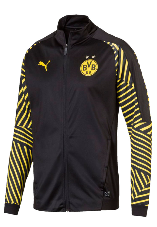 Puma BVB Aufwärmjacke Stadium schwarzgelb