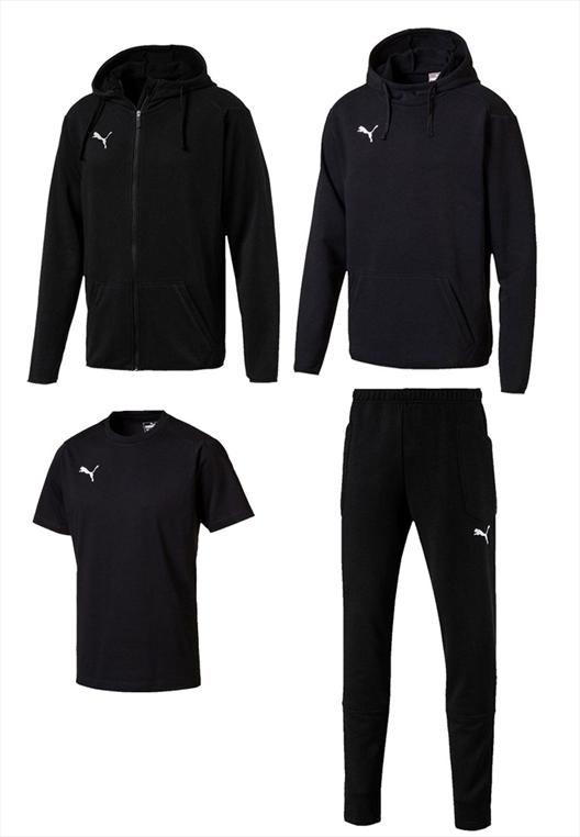 Puma Freizeitset Liga Casuals 4-teilig schwarz/weiß