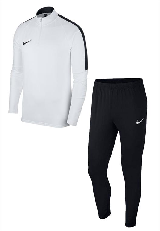 20d7b153fbea72 Nike Trainingsanzug Academy 18 2-teilig weiß schwarz - Fussball Shop