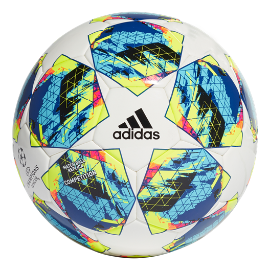 Adidas Fussball Champions League Finale 2019 Competition Grosse 5 Weiss Cyan