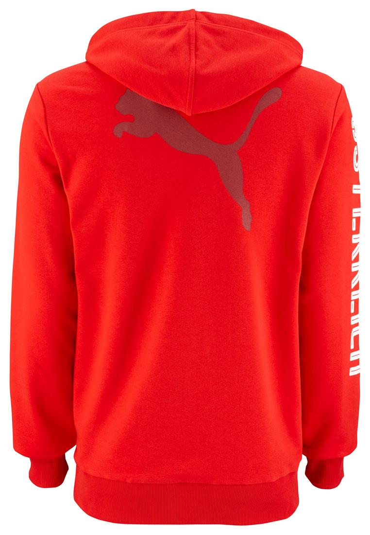 Puma Österreich Kinder Kapuzenpullover Hoody rot/weiß